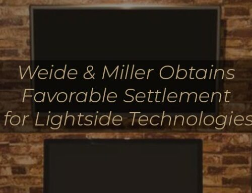Weide & Miller Obtains Favorable Settlement for Lightside Technologies